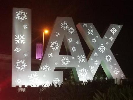 LAX Stadium Inn - LAX Sign